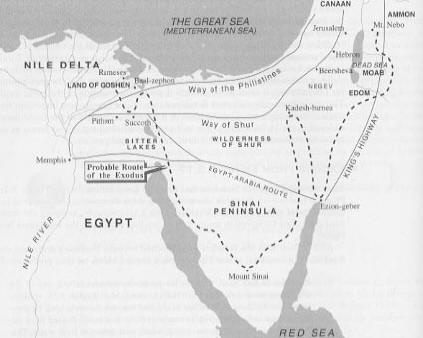 Map of Exodus routejpg